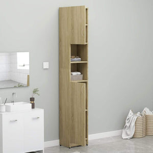 Bathroom Cabinet, Wood, Sonoma Oak, 32x25.5x190cm