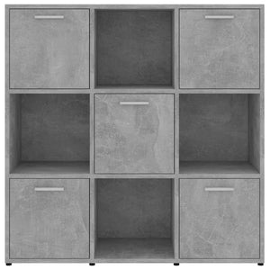 Book Cabinet, Chipboard, Concrete Grey, 90x30x90cm