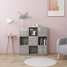 Load image into Gallery viewer, Book Cabinet, Chipboard, Concrete Grey, 90x30x90cm
