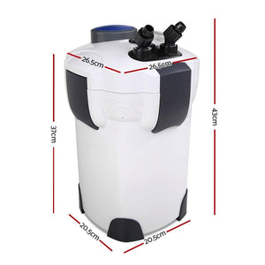Aquarium External Canister Filter, UV Light, with Media Kit, 1850L/H