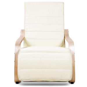Recliner Armchair, Fabric, Beige