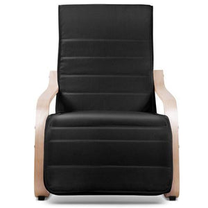 Recliner Armchair, Fabric, Black