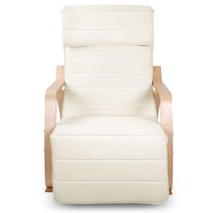 Rocking Recliner Armchair, Fabric, Beige