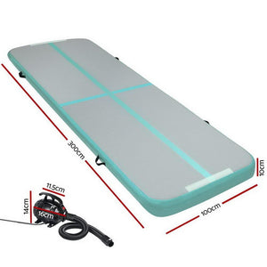 AirTrack Mat, Inflatable, Green, 100cm x 300cm
