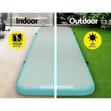 Load image into Gallery viewer, AirTrack Mat, Inflatable, Green, 100cm x 300cm