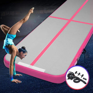 AirTrack Mat, Inflatable, Pink, 100cm x 300cm