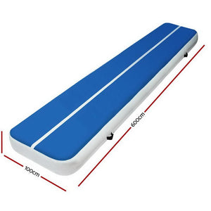 AirTrack Mat, Inflatable, Blue, 6 x 1m