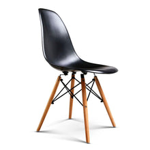 Load image into Gallery viewer, Eames DSW Dining Chairs, Moulded, Black (Set of 4)