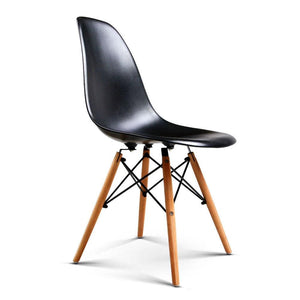 Eames DSW Dining Chairs, Moulded, Black (Set of 4)