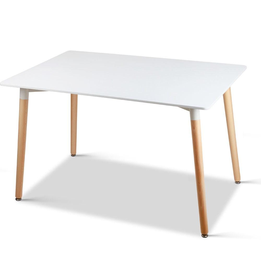 Eames DSW Dining Table, Rectangular, White, 43.3 x 31.5 x 28.75in