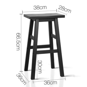 Baden Bar Stools, Black (Set of 2)