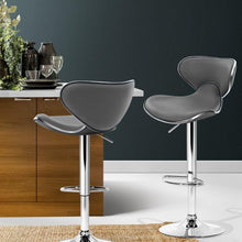 Load image into Gallery viewer, Disa Bar Stools, Leather, Grey (Set of 2)