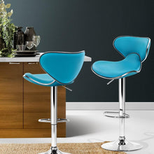 Load image into Gallery viewer, Disa Bar Stools, Leather, Teal (Set of 2)