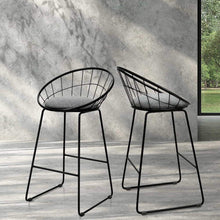 Load image into Gallery viewer, Nord Bar Stools, Fabric, Grey (Set of 2)