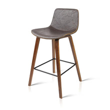 Load image into Gallery viewer, Artiss Set of 2 PU Leather Bar Stools - Walnut