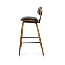 Load image into Gallery viewer, Frank Bar Stools, Leather, Black (Set of 2)