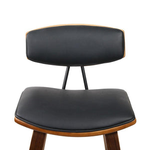 Frank Bar Stools, Leather, Black (Set of 2)