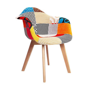 Eames Armchairs, Fabric, Patch (Set of 2)