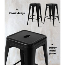 Load image into Gallery viewer, Maeve Bar Stools, Metal, Black (Set of 2)