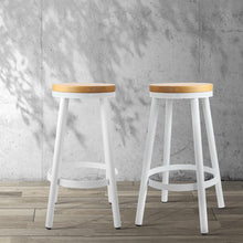 Load image into Gallery viewer, Cynthia Bar Stools, Stackable, White (Set of 2)