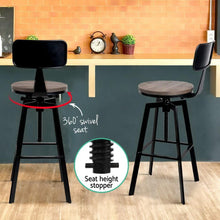 Load image into Gallery viewer, Kazuo Bar Stool, Metal & Wood, Black