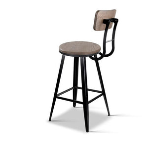 Ellis Bar Stool, Wood, Dark Brown, 76cm