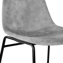 Load image into Gallery viewer, Leon Dining Chairs, Leather, Grey (Set of 2)