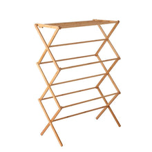 Load image into Gallery viewer, Artiss Bamboo Clothes Dry Rack Folable Towel Hanger Laundry Drying