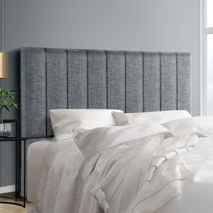 Sala Bed Head, Fabric, Grey, Double