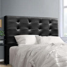 Load image into Gallery viewer, Beno Bed Head, Leather, Black, Queen