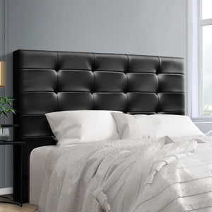 Beno Bed Head, Leather, Black, Queen