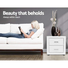 Load image into Gallery viewer, Felicity Bedside Table, Leather, White