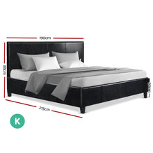 Load image into Gallery viewer, Neo Bed Frame, Leather, Black, King