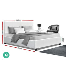 Load image into Gallery viewer, Neo Bed Frame, Leather, White, Queen