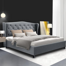 Load image into Gallery viewer, Pier Bed Frame, Fabric, Grey, Double