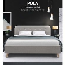 Load image into Gallery viewer, Pola Bed Frame, Leather, Beige, Queen