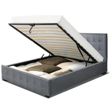 Load image into Gallery viewer, Roca Bed Frame, w/Storage Mattress, Fabric, Grey, King Single
