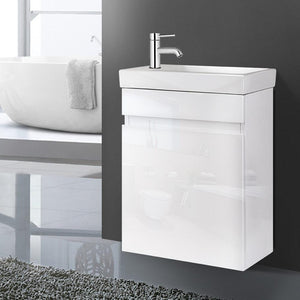 Bathroom Vanity, Ceramic Basin, White