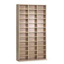 Load image into Gallery viewer, Artiss 528 DVD 1116 CD Storage Shelf Media Rack Stand Cupboard Book Unit Oak