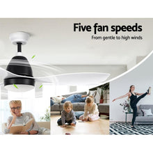 Load image into Gallery viewer, Ceiling Fan, with Light, 3 Blades, White, Remote, 48""