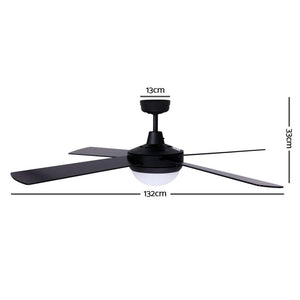 Ceiling Fan, Black, 132cm