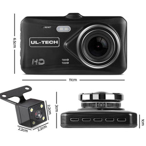 Dash Camera, Dual, 1080P Full HD, Black