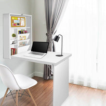 Load image into Gallery viewer, Fold Away Wall Desk, White