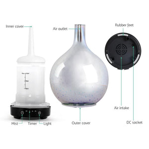 Aroma Diffuser, Ultrasonic, LED, 100ml