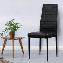 Load image into Gallery viewer, Dining Chairs, Leather, Black (Set of 4)