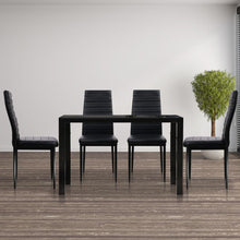Load image into Gallery viewer, Astra 5-Piece Dining Set, Black