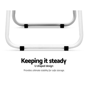 Clothes Hanger Rack, Metal and Wood, White, 101.5cm x 39.5cm x 150.5cm