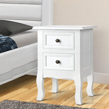Load image into Gallery viewer, Annie Bedside Table, w/ 2 Drawers, White