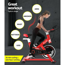 Load image into Gallery viewer, Exercise Spin Bike,  with Drink Holder, Red
