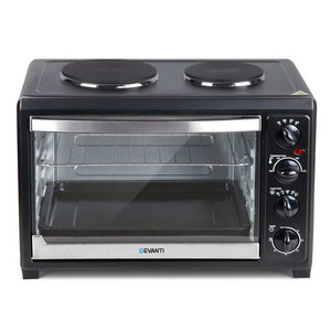 Convection Oven, Hotplates, Black, 45L